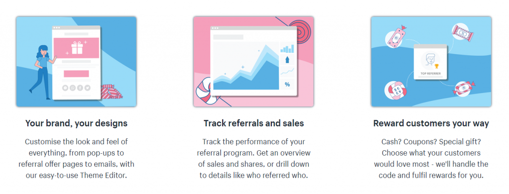 1 Referral Candy Features